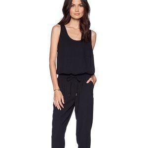 Joie Large Black Sleeveless Mardalina Jumpsuit